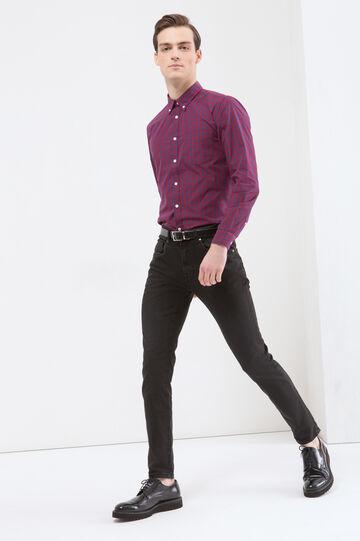 Camicia a quadri con taschino, Blu/rosso, hi-res