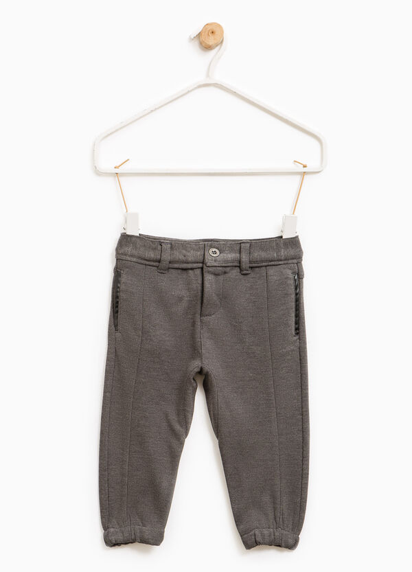 Viscose trousers with elasticated ankles | OVS