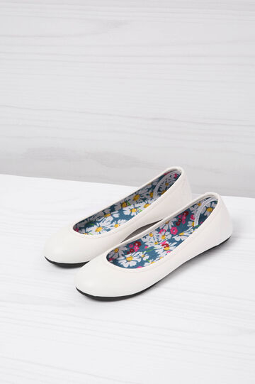 Ballerina flats with patterned inner