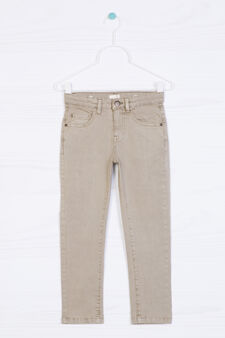 5-pocket stretch chino trousers, Beige, hi-res