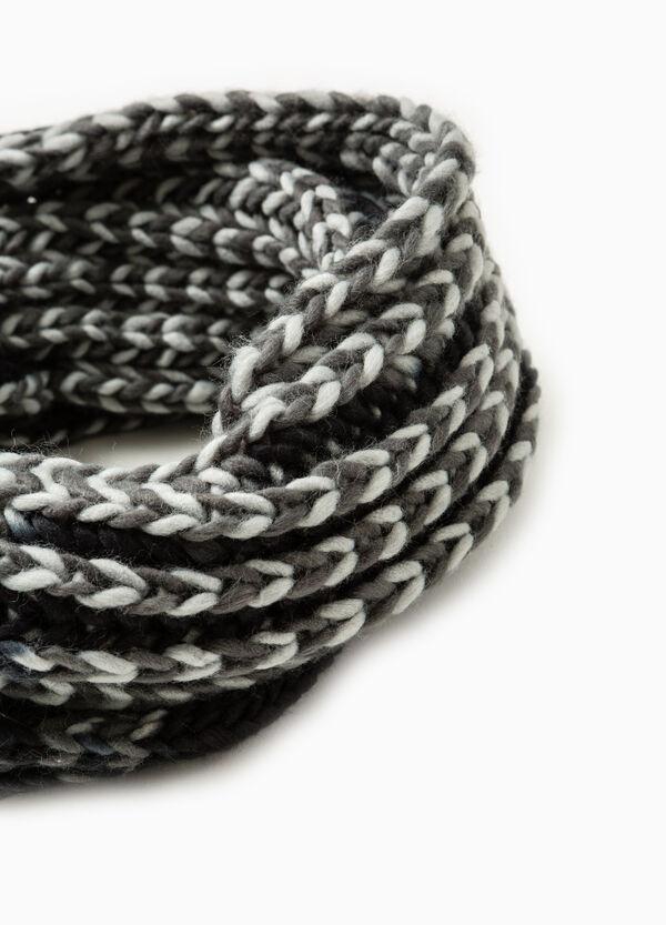 Mélange chunky knit scarf | OVS