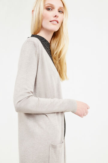 Long cardigan without buttons, Beige, hi-res