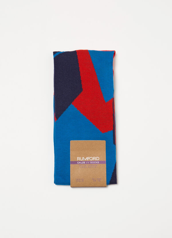 Long stretch socks with Rumford pattern | OVS