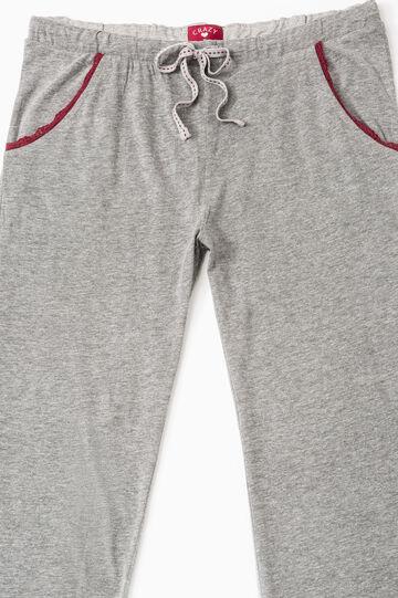 Set of two pyjama bottoms, Grey Marl, hi-res