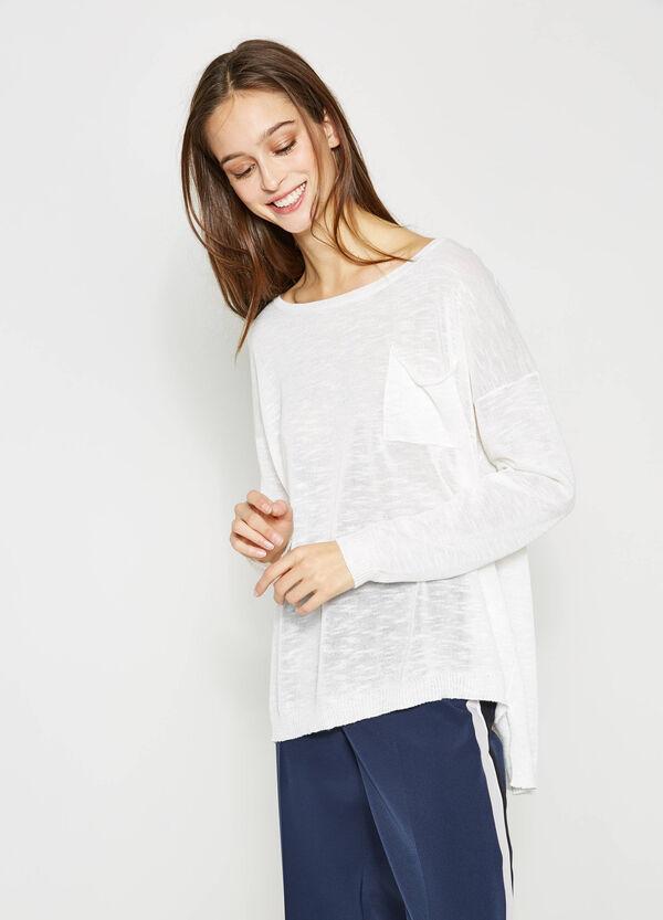 Jersey con bajo asimétrico y bolsillo | OVS