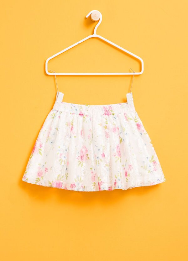 Lace skirt with floral pattern | OVS