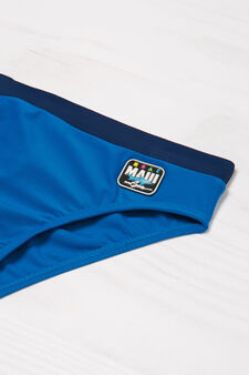 Maui and Sons plain colour swimming trunks, Blue, hi-res
