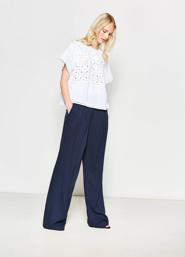 Blouse with openwork design | OVS