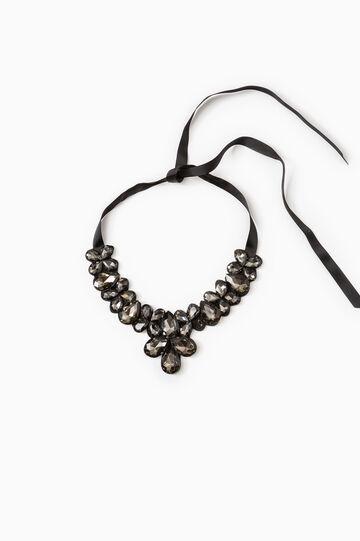 Diamanté necklace, Dark Grey, hi-res