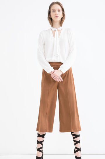 Suede look trousers, Brown, hi-res