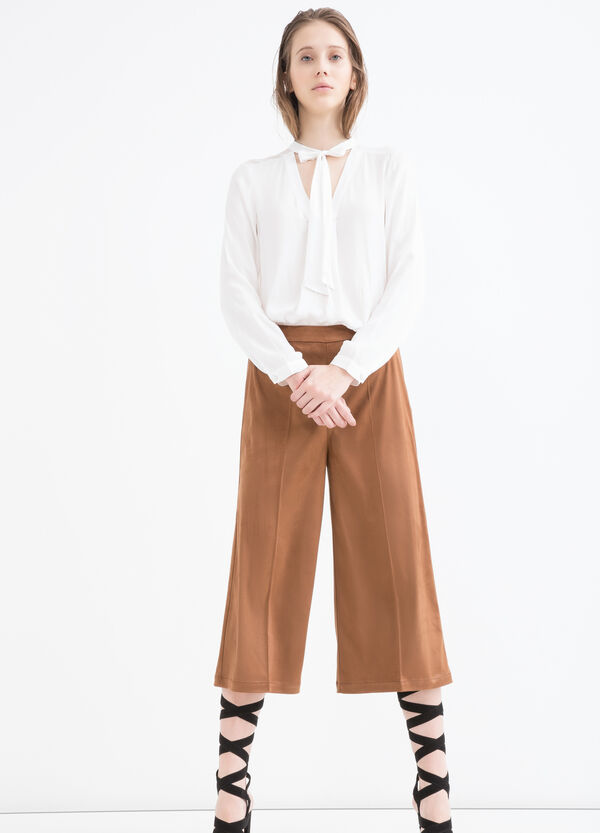 Suede look trousers | OVS