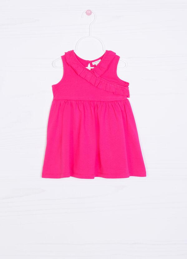 100% cotton dress with flounces | OVS