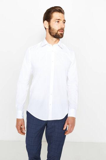 Camicia formale slim fit colletto francese, Bianco, hi-res