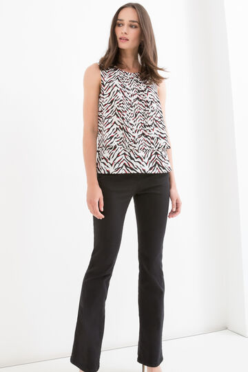 Animal patterned sleeveless blouse