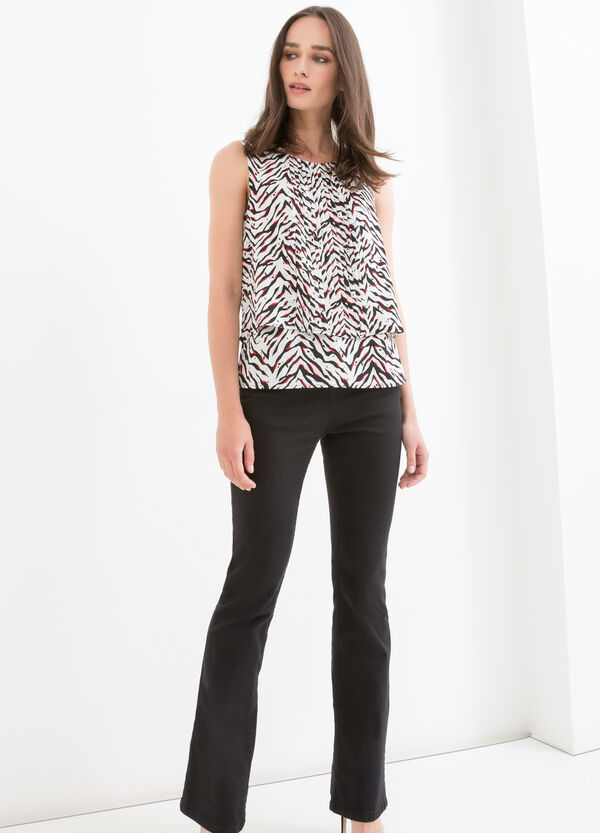 Animal patterned sleeveless blouse | OVS