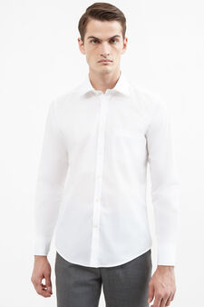 Formal shirt with bluff collar, White, hi-res