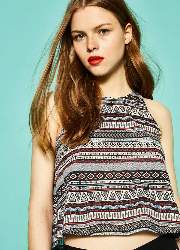 Printed crop top by Maui and Sons | OVS