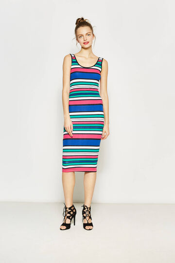 Sleeveless longuette tube dress