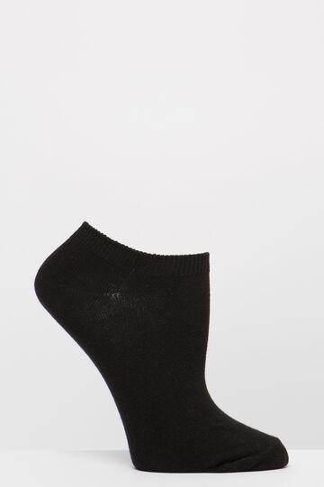 Two-pair pack stretch socks, Black, hi-res