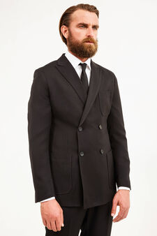 OVS Black Double Breast Jacket, Black, hi-res