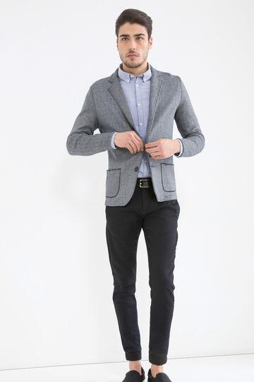 Camicia puro cotone con taschino, Blu chiaro, hi-res