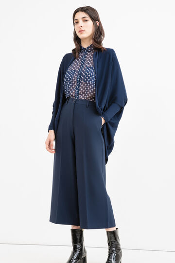 Viscose cardigan with batwing sleeves, Navy Blue, hi-res