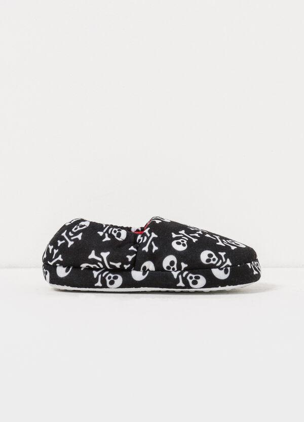 Pantofole in tela fantasia teschi   OVS