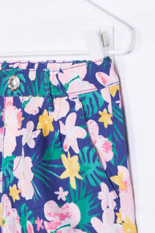 Patterned shorts in 100% cotton, White, hi-res