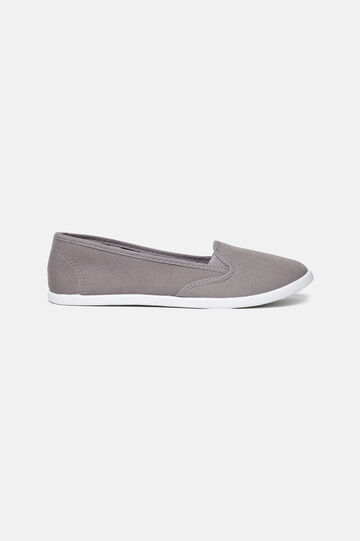 Canvas slip-on shoes, Grey, hi-res