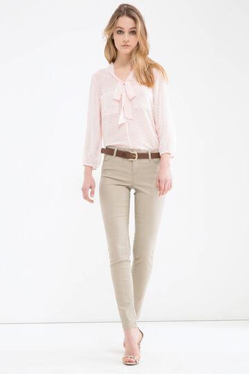 Push-up stretch trousers, Khaki, hi-res