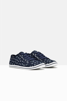 Sneakers basse allacciate, Blu denim, hi-res