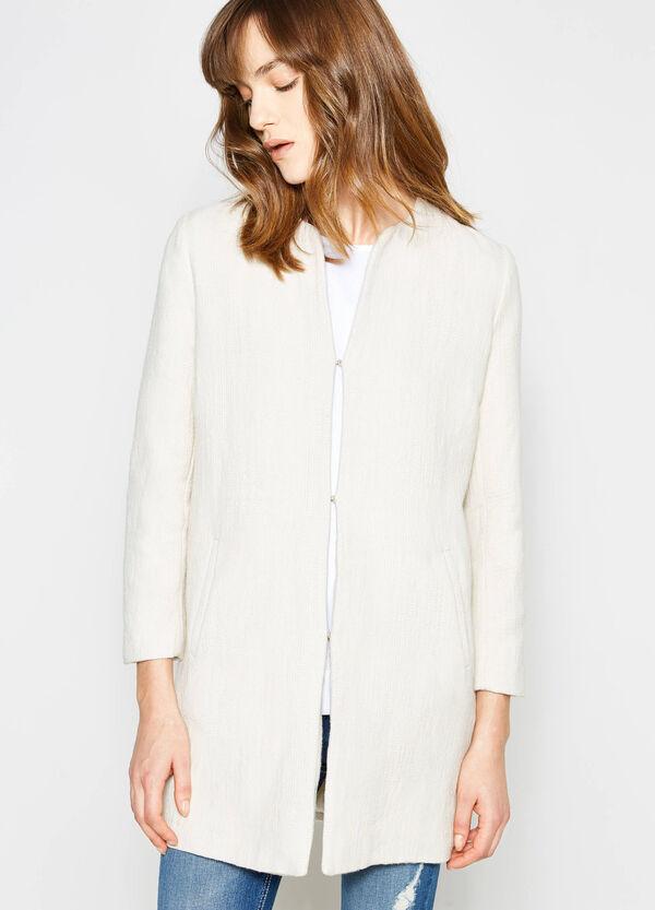 100% cotton coat with crew neck | OVS