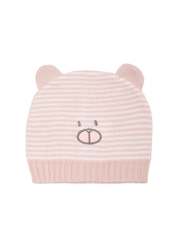 Embroidered knit beanie cap | OVS