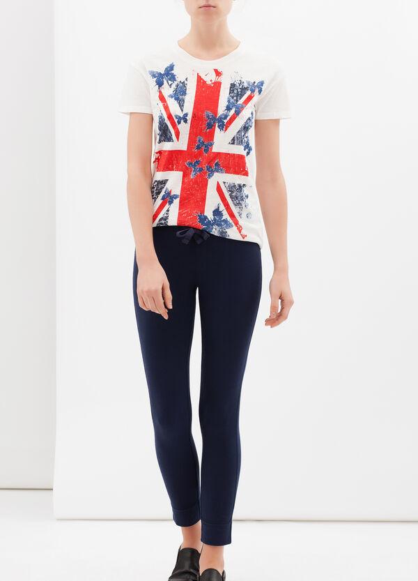 Stretch cotton blend leggings | OVS