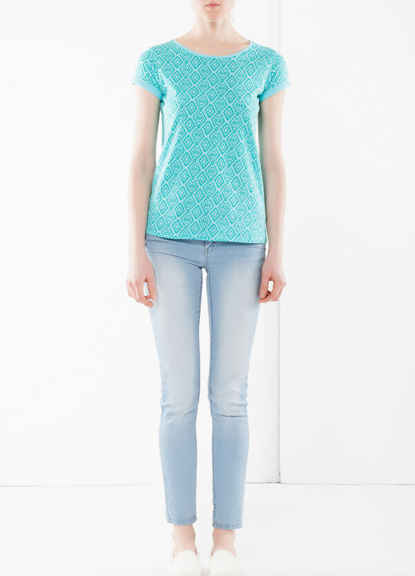 Short-sleeved T-shirt in cotton | OVS