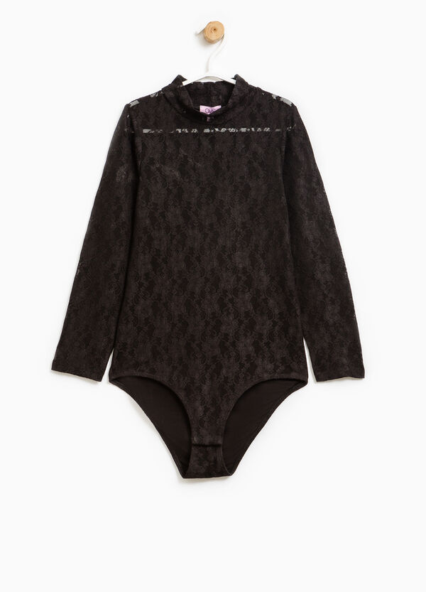 Long-sleeved lace bodysuit | OVS