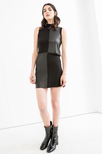 Sleeveless dress in viscose blend., Black, hi-res