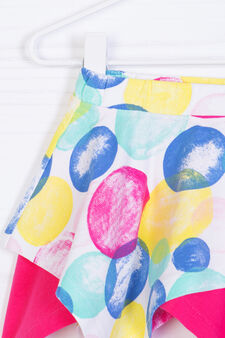 Patterned skirt in stretch cotton, Multicolour, hi-res