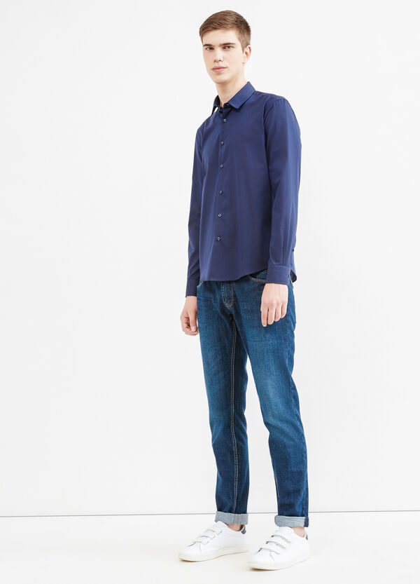 Camicia casual micro righe cotone | OVS