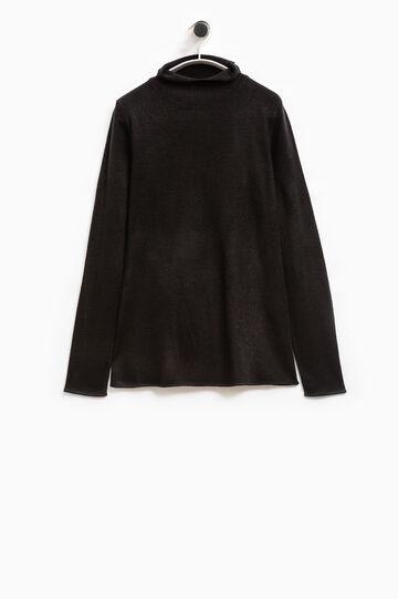 Smart Basic T-shirt with high neck, Black, hi-res