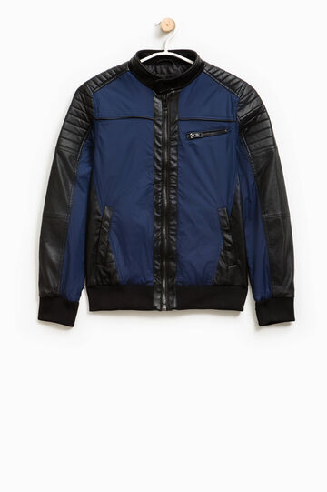 Two-tone jacket with small pocket, Black/Blue, hi-res