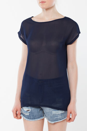 T-shirt trasparente, Blu scuro, hi-res