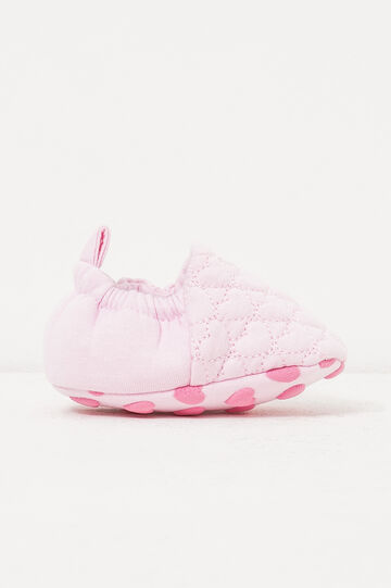 Canvas shoes with heart embroidery, Pink, hi-res