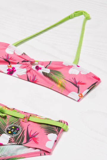Patterned stretch bikini by Maui and Sons, Pink, hi-res