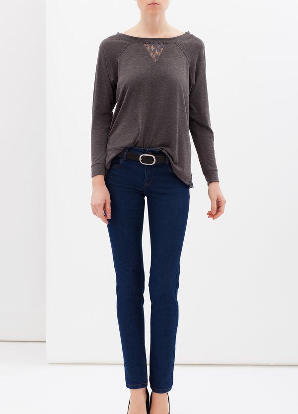 Viscose mix T-shirt with lace | OVS