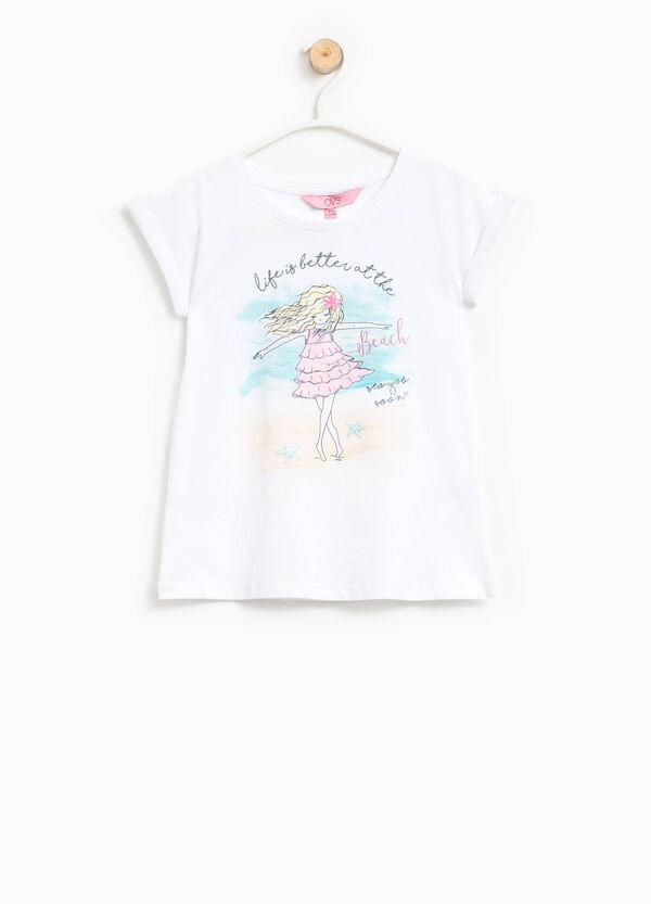 Glitter print T-shirt | OVS