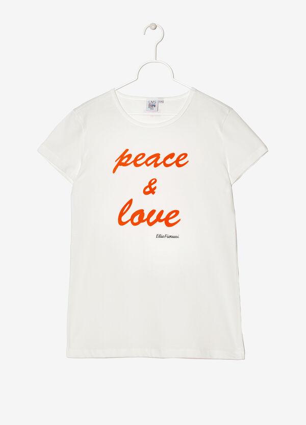 T-shirt Expo stampa Peace&Love. Designed by Elio Fiorucci | OVS