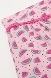 Printed cotton pyjama shorts, Pink, hi-res