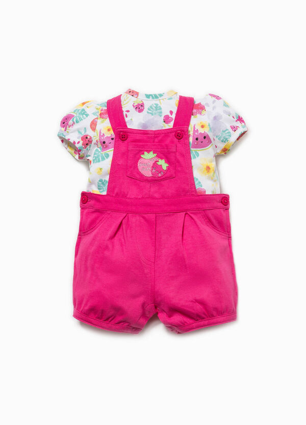 Patterned T-shirt and dungarees set | OVS