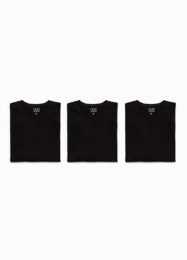 Three-pack undershirts with V neck | OVS